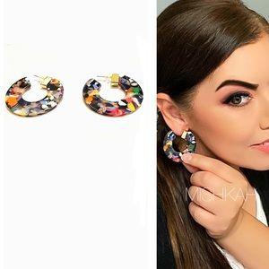 JustIn🎉Trendy CShaped MultiColored Resin Earrings